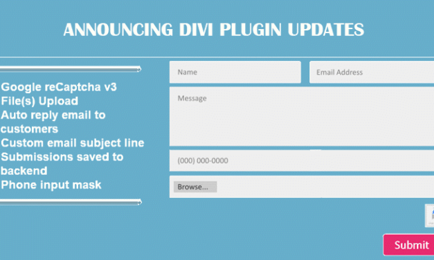 Divi Contact Extended Version 2 Is Available Now