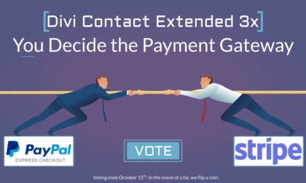 Divi Contact Extended 3x Contest – Vote a Payment Gateway
