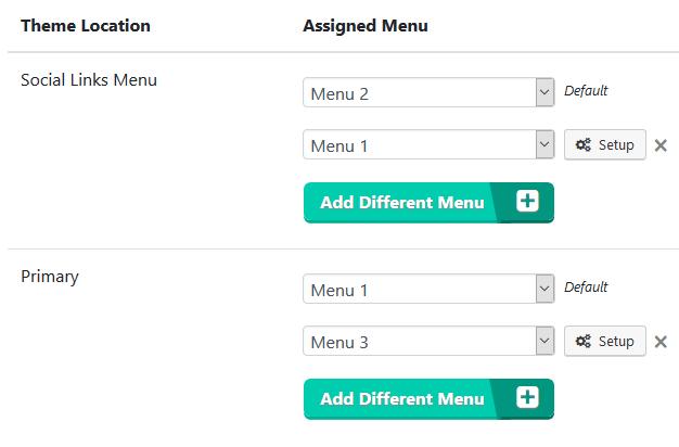 Variable Menus - Trumani WordPress Plugins